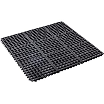 Amazon Com Kempf Rubber Anti Fatigue Drainage Mat Interlocking For Wet And Dry Areas 36 By 36 Inch Black Kitchen Dining