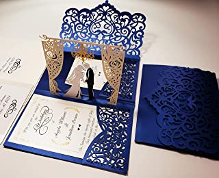 Best navy blue and silver wedding invitations Reviews