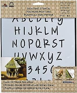 FolkArt Large Painting Stencil, 30739 Lite Felt Tip Marker Alphabet