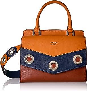 GUESS Women's Liya Satchel Red Multi Handbag: Amazon.in