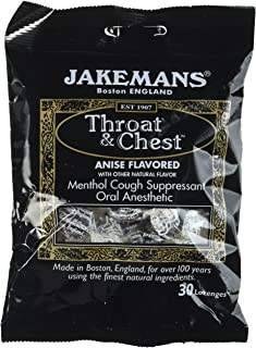 Jakeman's Throat and Chest Menthol Cough Suppressant Lozenges 100g (Pack of 4)