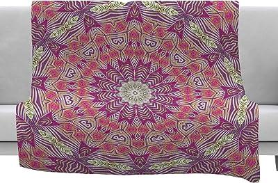 30 x 20 Pillow Sham Kess InHouse Famenxt Boho Folk Colors Mandala Olive Multicolor Digital