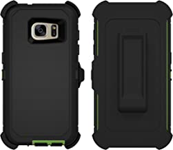 Galaxy S7 Case, ToughBox  [Armor Series] [Shock Proof] [Black] for Samsung Galaxy S7 Case [Built in Screen Protector] [With Holster & Belt Clip] [Fits OtterBox Defender Series Belt Clip]