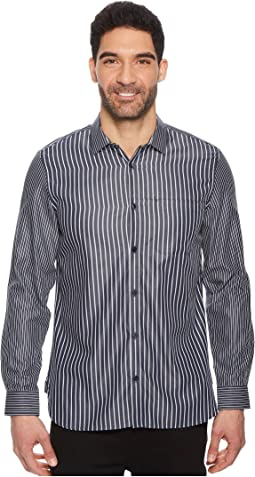 Calvin Klein - Engineered Stripe Button Down Shirt