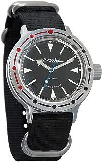 Vostok Amphibian Automatic Mens Wristwatch Self-Winding Military Diver Amphibia Case Wrist Watch #420512