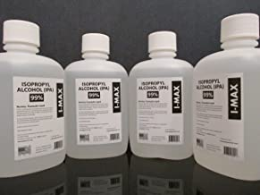 Isopropyl Alcohol 99.5% (One Liter, 33.8 Oz, greater than one US Quart) 4 X 1 Liter Case