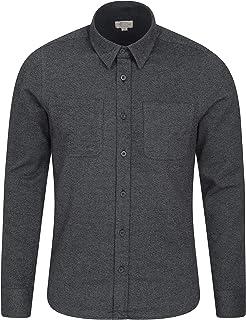 Mountain Warehouse Trace Mens Flannel Long Sleeve Shirt - 100% Cotton Checks Shirt, Lightweight, Breathable, Casual, Zippe...