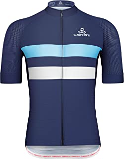 CEROTIPOLAR Race Cutting Men`s Cool Summer Cycling Jersey, Bike Jersey UPF50+
