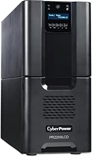 CyberPower PR2200LCD Smart App Sinewave UPS System, 2200VA/1980W, 10 Outlets, AVR, Tower