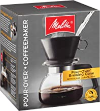 Melitta 6-Cup Pour Over Coffee Brewer w/Glass Carafe, Black