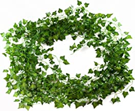 Artificial Ivy Plant Vines - 12-Pack (12 x 6.9 Feet) - Fake Greenery Garland