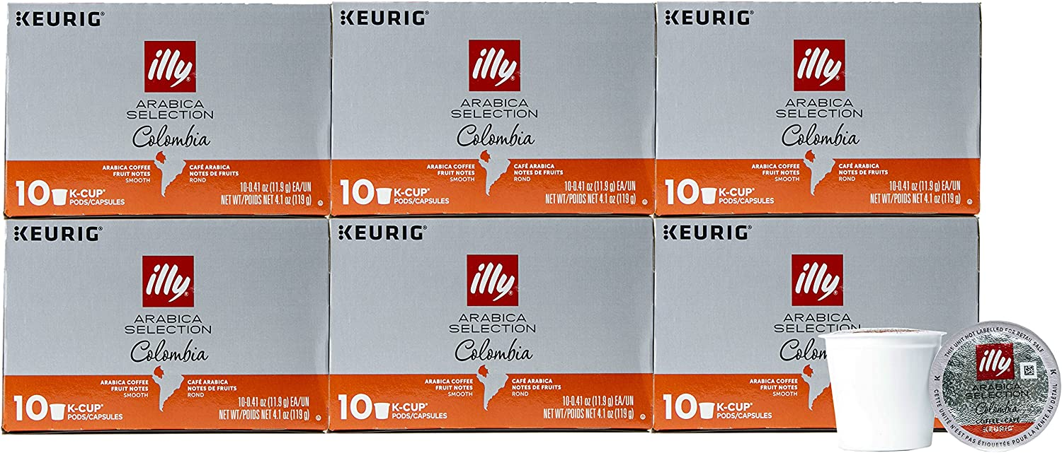 Illy Arabica Selection Keurig K-Cup Pods Single-Serve, 24.6 Ounce