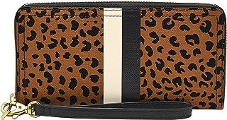 Women's Logan Leather RFID-Blocking Zip Around Clutch Wallet with Wristlet Strap