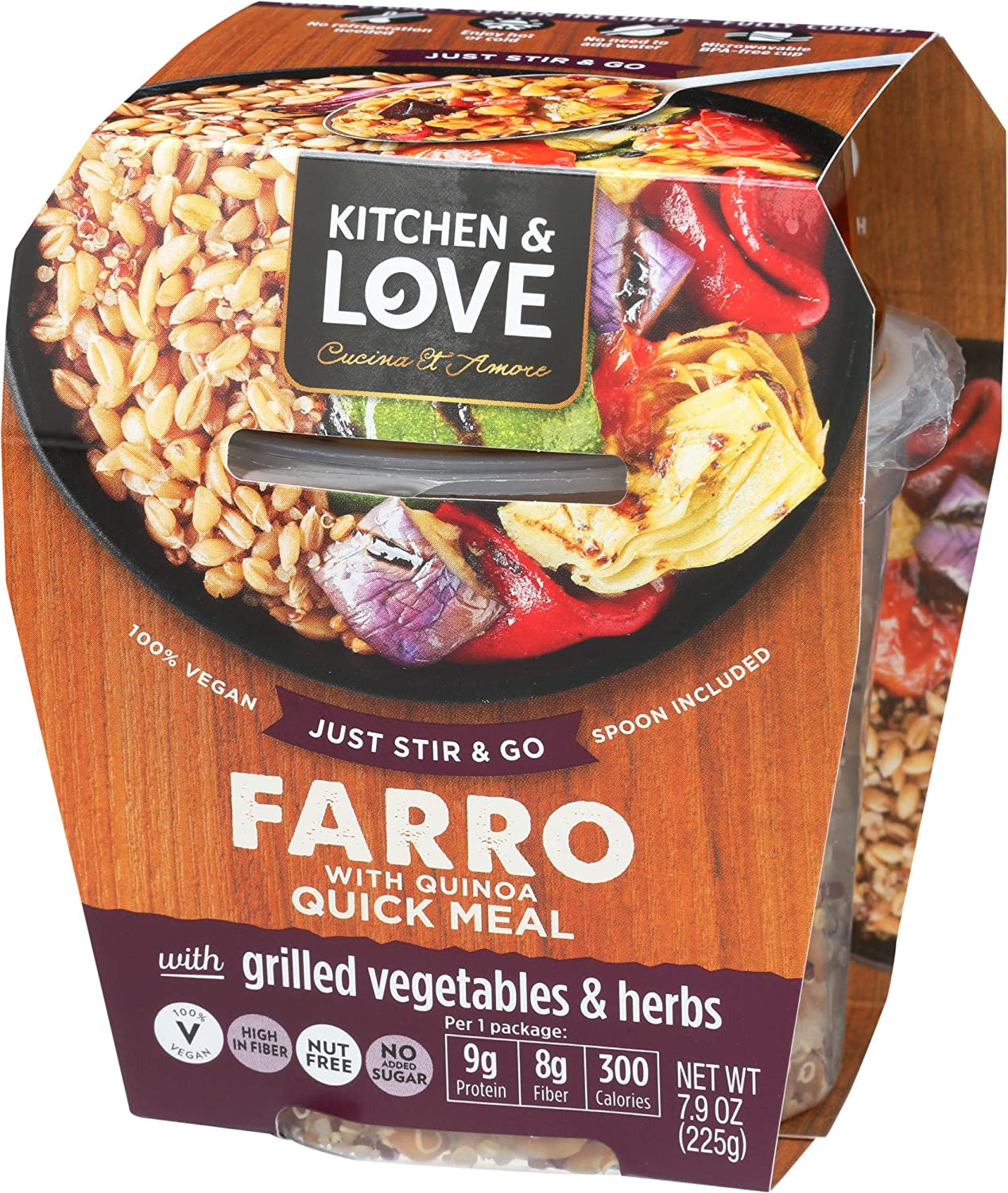 Kitchen Love Grilled Vegetables sale Herbs Farro Rare Ve Meal 6-Pack