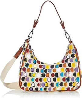 Desigual Womens Fabric Shoulder Bag, White, U