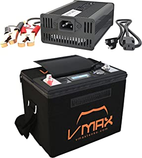 VMAX VPG12C-50Li Lithium Ion 50AH 12V U1 Deep Cycle Battery for Minn Kota Endura C2 30-55 lbs Trolling Motor + Li_Ion 16.8V Charger