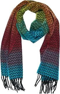 INVERNO Super Soft Luxurious Cashmere Feel Warm Winter Pattern Design Unisex Scarf
