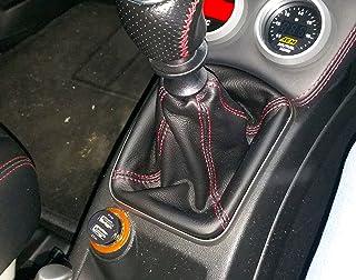 Fiat Grande Punto EVO cuffia leva cambio vera pelle nera cuciture rosse