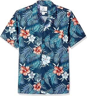 28 Palms Men's Standard-Fit 100% Cotton Tropical Hawaiian
