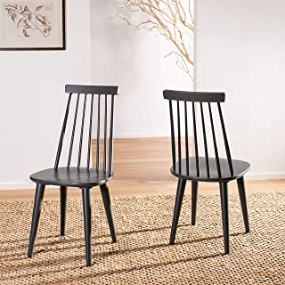 Safavieh American Homes Collection Burris Country Farmhouse Grey Spindle Side Chair (Set of 2)