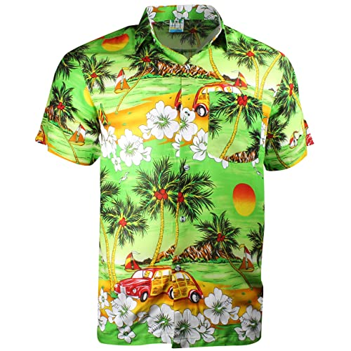 8119e72c Cherry-on-Top Hawaiian Shirt Summer Caribbean Party Stag Camper