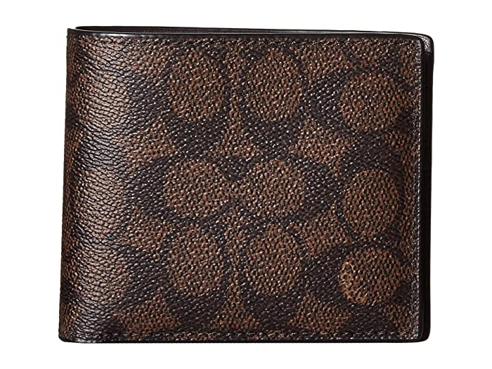 32dae33637 COACH Signature C Compact ID Wallet at Zappos.com