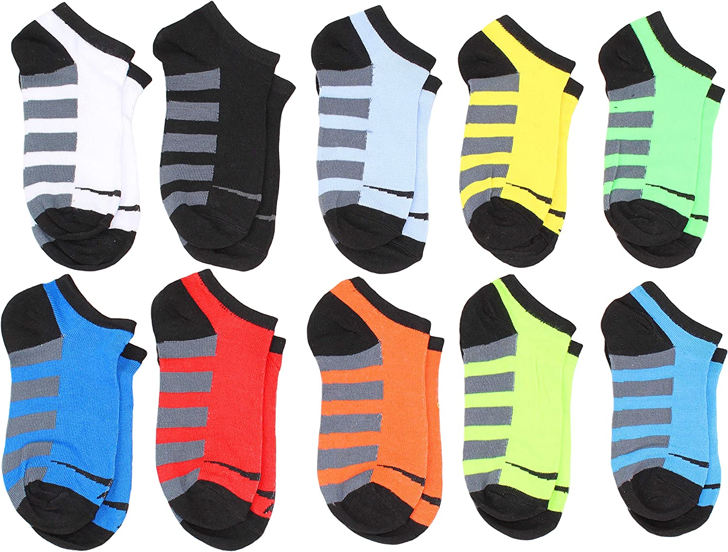 Sport Essentials Boys Youth 10-Pack No Show Performance Socks