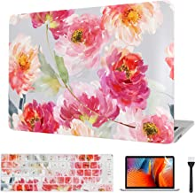 VAESIDA MacBook Case 12 Inch, Floral Laptop Cover & Keyboard Cover & Screen Protector Only Compatible Mac 12 Release 2015-...
