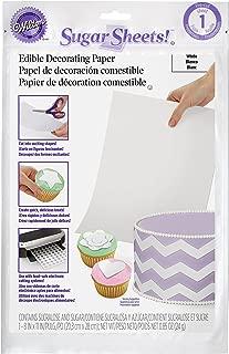 Wilton White Sugar Sheets Edible Decorating Paper - 0.85 oz. - Cake Decorating Supplies
