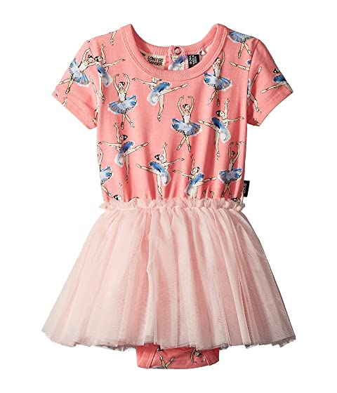 Rock Your Baby Basque Short Sleeve Circus Dress (Infant)