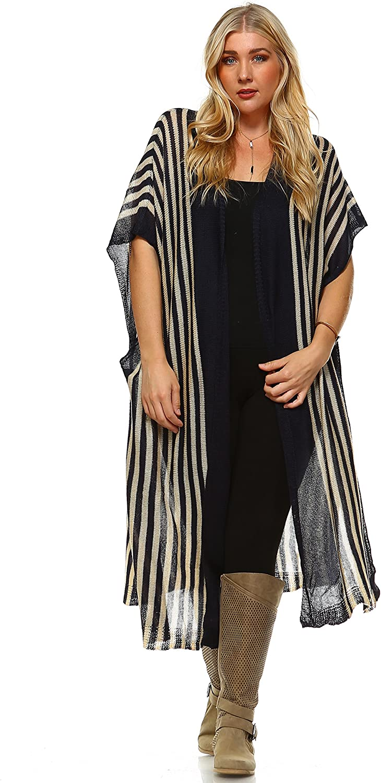 Zoozie LA Women's OFFicial site 35% OFF Plus Size Aztec Sweater Poncho Tribal Cardigan