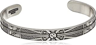 Alex and Ani Men's Compass Cuff Bracelet, Rafaelian Silver, Expandable