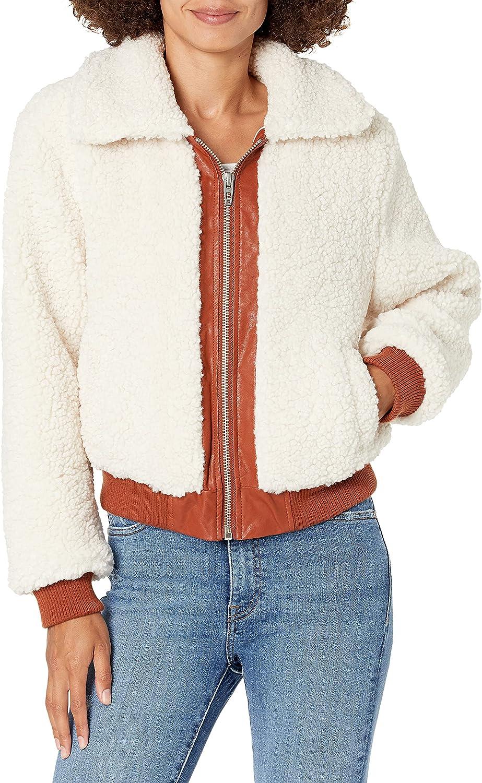 [BLANKNYC] womens Faux Sherpa Jacket