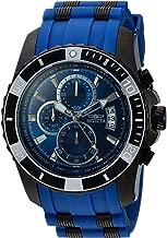 Invicta Men's Pro Diver Stainless Steel Quartz Watch with Polyurethane Strap, Blue, 26
