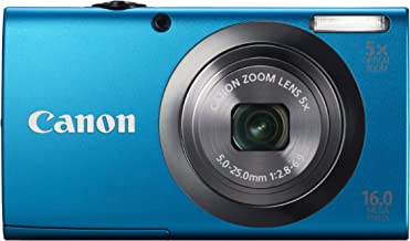 Canon PowerShot A2300 16.0 MP Digital Camera with 5x Optical Zoom (Blue) (OLD MODEL)