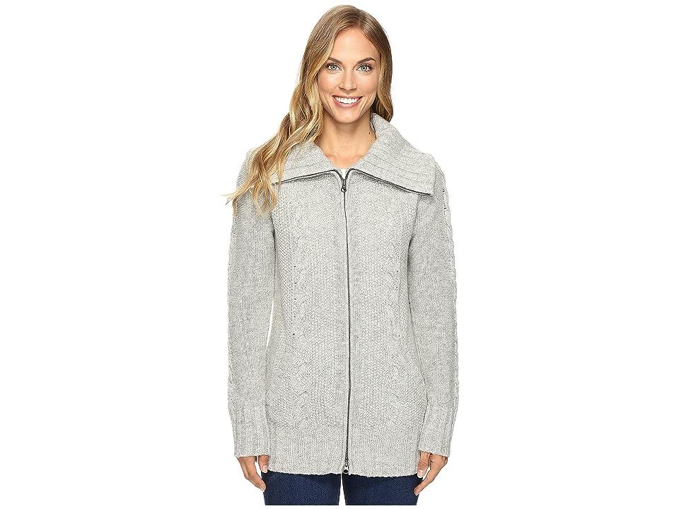 Smartwool Crestone Sweater Jacket (Silver Gray Heather) Women