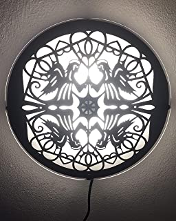 "mandala light -lampada di carta""Angels"""