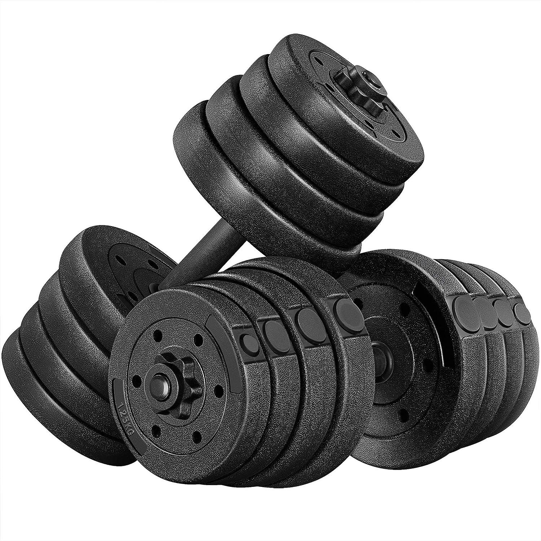 YAHEETECH Dumbbells Weight 激安通販専門店 Set 44LB Adjustable クリアランスsale 期間限定 Dumbbell We 66LB