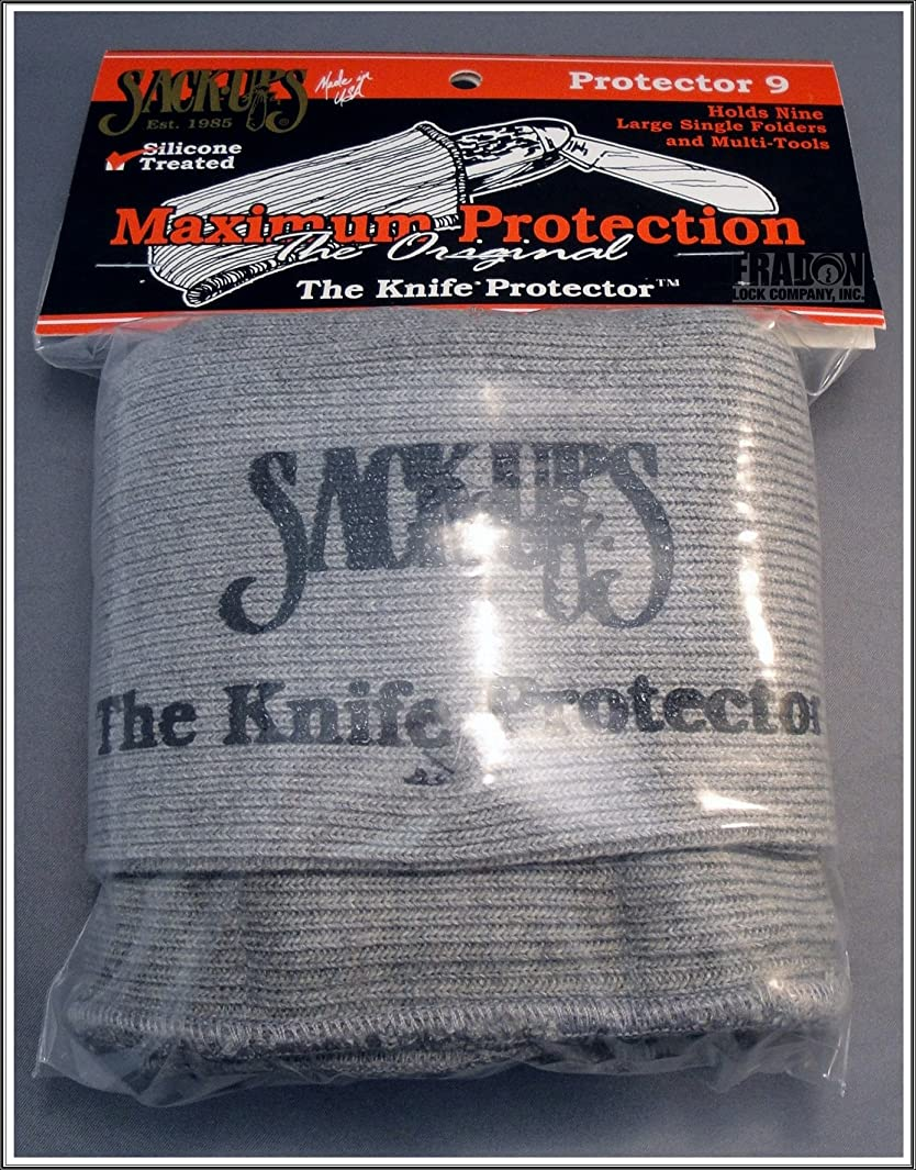 Sack-Ups The Knife Protector 9-Knife Roll - Silicone Treated