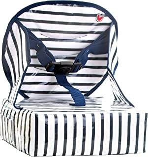 BabyToLove Easy Up Toddler Feeding Booster Seat (Blue Stripes)