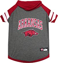 NCAA Arkansas Razorbacks Hoodie for Dogs & Cats, Small. | Collegiate Licensed Dog Hoody Tee Shirt | Sports Hoody T-Shirt for Pets | College Sporty Dog Hoodie Shirt.