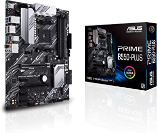 ASUS Prime B550-PLUS AMD AM4 (3rd Gen Ryzen™) ATX motherboard (PCIe 4.0, ECC memory, 1Gb LAN, HDMI 2.1, DisPlayPort 1.2 (4...
