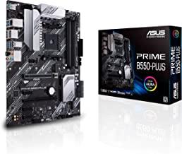 ASUS Prime B550-PLUS AMD AM4 (3rd Gen Ryzen ATX Motherboard (PCIe 4.0, ECC Memory, 1Gb LAN, HDMI 2.1, DisPlayPort 1.2 (4K@...