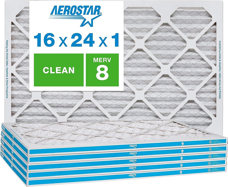 AC et four de filtre /à air en Aerostar 2,5/cm Merv 8/ lot de 6