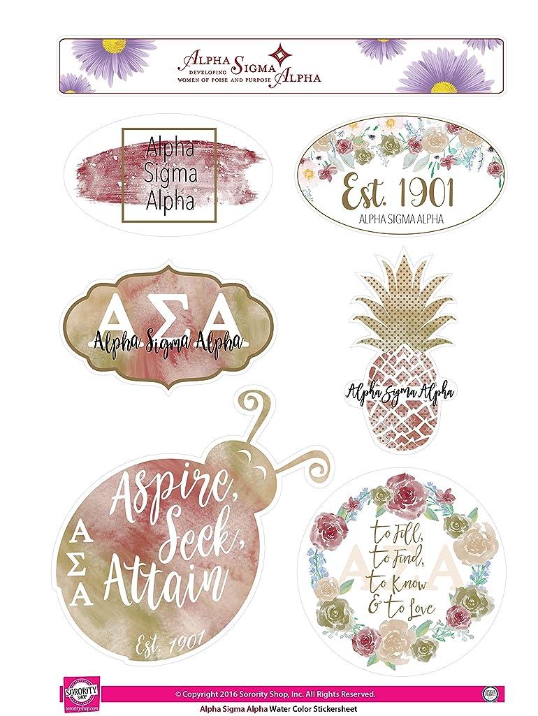 Alpha Sigma Alpha - Sticker Sheet - Watercolor Theme
