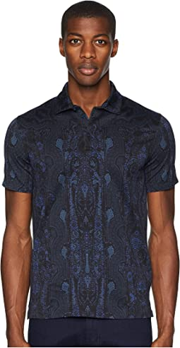 Vertical Paisley Block Polo
