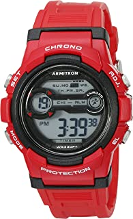 Armitron Sport Unisex 45/7064BRD Digital Chronograph Red Resin Strap Watch