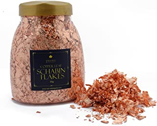Genuine Copper Leaf Schabin Flakes Metallic Foil Flakes for Gilding, Painting Arts and Crafts (50oz jar)