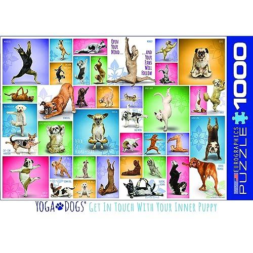 eaf63276 EuroGraphics Yoga Dogs 1000-Piece Puzzle