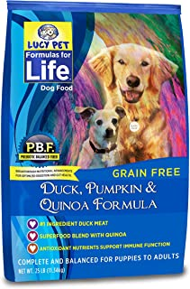 Lucy Pet Formulas for Life Gut Health Dry Dog Food Duck, Pumpkin & Quinoa
